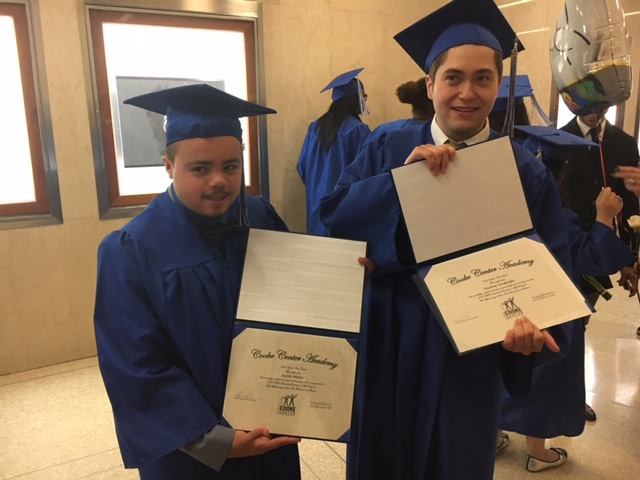 Andrew and his best friend Justin at graduation