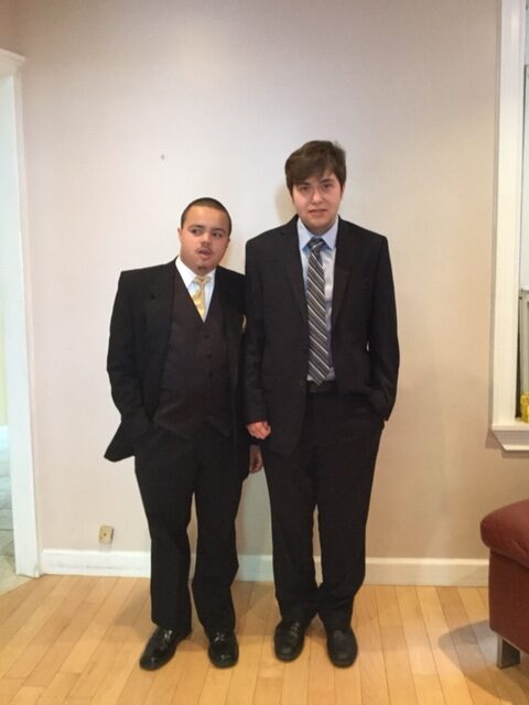 Andrew and Justin in suits