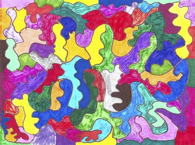 Abstract Painting Don't set limits on your accomplishments