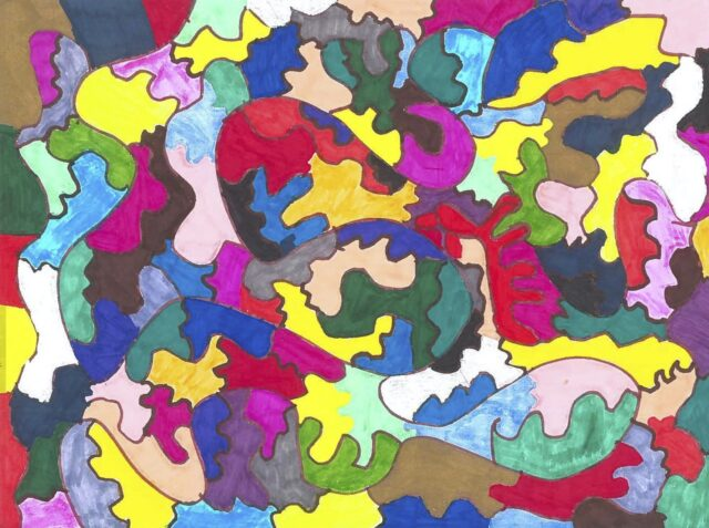 Colorful abstract painting there are hidden possibilities out there