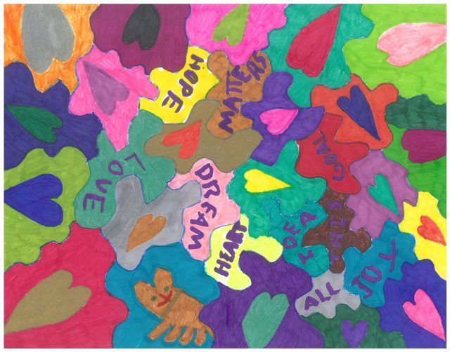 Colorful painting Hope Love Matters Dream Heart Idea Goal